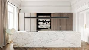 kitchen luxurious marble kitchen features lightly streaked marble