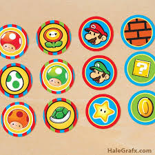 free printable super mario bros cupcake toppers super mario