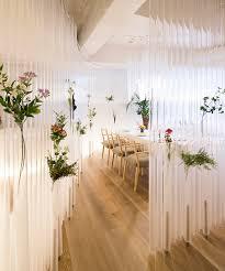 Restaurant Decoration Kengo Kuma Turns Plastic Tubes Into Ethereal Restaurant Decor
