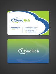 175 upmarket modern information technology business card designs