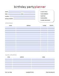free party planner template best 25 party planning printable