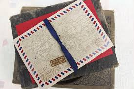 pocket fold air mail printed pocket fold wedding invitation scotland