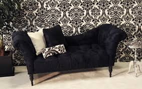 Chaise Sofa Lounge by Florenzia Black Chaise Town U0026 Country Event Rentals