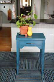 Turquoise Entry Table by Transforming A 2 99 Sewing Table In A Bright Blue U2014 A Simpler