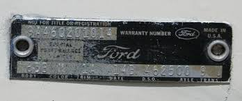 ford talladega vin u0026 data plate talladega and spoiler registry