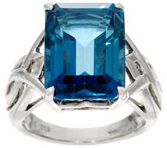 silver rings london images Emerald cut london blue topaz sterling silver ring 12 00 cts 001