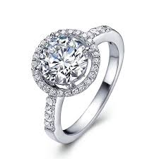 titanium engagement rings halo titanium engagement ring with swarovski crystals