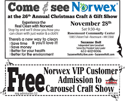 come see norwex at rosemont the 26th annual christmas craft and