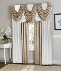 Curtains Set White Beige Hyatt Curtain Set Moshells