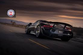 porsche 918 spyder with weissach pack poses for hre wheels