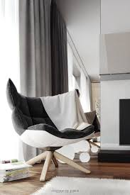 Modern Chair For Living Room Living Room Grey Modern Chair White Painted Wooden Legs Magazine