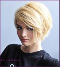short hairstyles for round faces and thick hair womens short