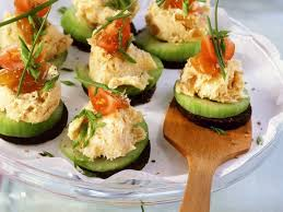 cucumber canapes smoked fish and cucumber canapes recipe eat smarter usa