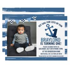 nautical theme birthday invitations u0026 announcements zazzle