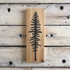 Rustic Home Decor Canada Sitka Tree Sign Trees Woodsy Home Decor Nature Cedar Woodland