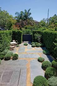 Modern Victorian Garden Brick Walls Herring Bone Path Oak Sleepers