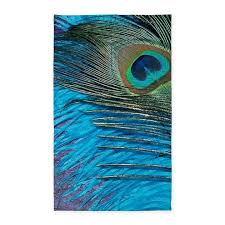 Peacock Area Rug Purple And Teal Peacock 3 X5 Area Rug By Christyoliver