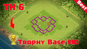 Coc Maps Clash Of Clans Town Hall 6 Defense Coc Th6 Best Trophy Base