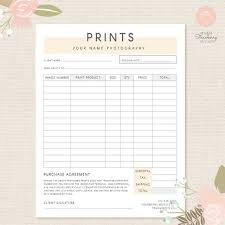 Photography Order Form Template Excel 25 Best Photography Contract Ideas On Free