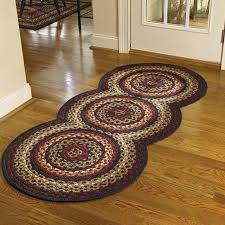 braided rug folk braided rug runner by park designs