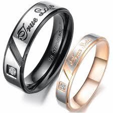 steel promise rings images Stainless steel promise rings for her stainless steel quot true love jpg