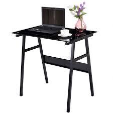 black glass top metal leg study computer desk desks office