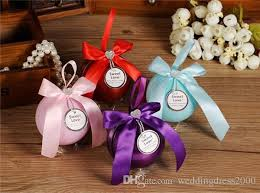 creative wedding favors colorful spherical creative wedding favor tin candy box for