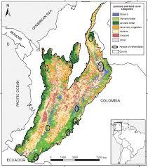Colombian Map Nelly Rodríguez Phd Ecología National University Of Colombia