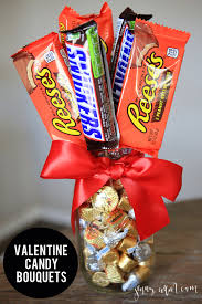 Homemade Valentines Day Ideas For Him by Valentine Candy Bouquets Candy Bouquet Diy Valentine And Child