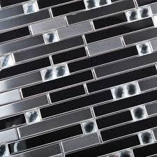 stainless steel kitchen backsplash tiles stainless steel mosaic tile silver mirrored tiles porcelain base