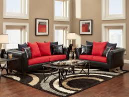 black and red living room decor electric fireplace round coffee