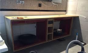 Bamboo Bathroom Cabinet Custom Bamboo Bathroom Furniture With Godmorgon Ikea Hackers