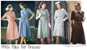 1940s dresses 1940s 1950s polka dot dresses