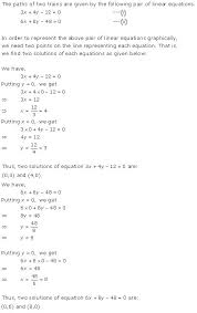 pair of linear equations in two variables rd