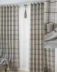 Grey Plaid Curtains Plaid Room Darkening Gray Print Prairie Style Curtains