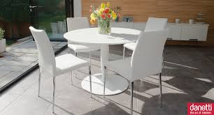 modern white round dining table furniture killer white dining room idea using adjustable gloss