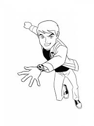 printable ben ten coloring pages coloring