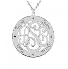 Personalized Family Necklace Mothers Jewelry Monogram Jewelry Be Monogrammed