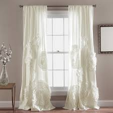 White Ruffled Curtains by Decor Sweet White Walmart Blackout Curtains With Dark Curtain