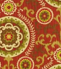 Home Decor Fabric Home Decor Print Fabric Waverly Siren Song Cayenne Decorating