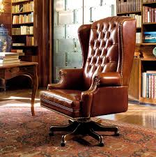 bureau president office armchair leather reclining on casters the