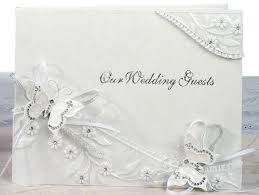 large wedding guest book and enchanting butterfly wedding guest book on