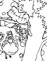 top alice in wonderland coloring page 36 4823
