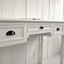 Schreibtisch Schmal Holz Schreibtisch Sekretär Ferrand Holz Mdf Weiß 3 Schubladen