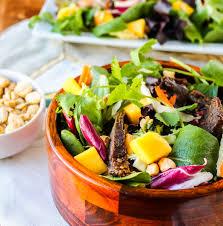 crockpot thai steak salad with peanut hoisin sauce the food