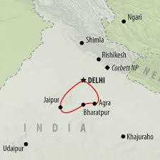 Agra India Map by Visiting India U0027s Golden Triangle On The Go Tours