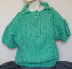 how to knit a sweater free knitting pattern for cabled polo collar pullover sweater