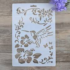 diy craft bird flower layering stencils for walls painting