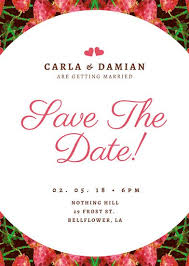 save the date st customize 134 save the date invitation templates online canva