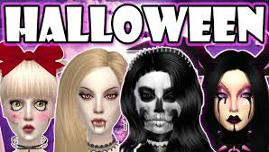 the sims 4 halloween costumes vampire creepy doll demon and